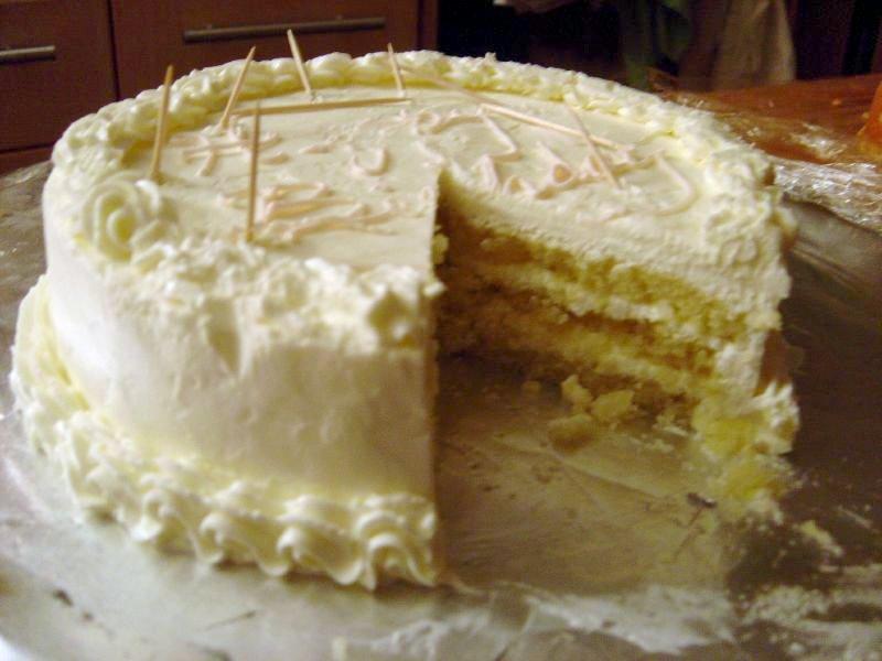 Lodowo-brzoskwiniowy tort