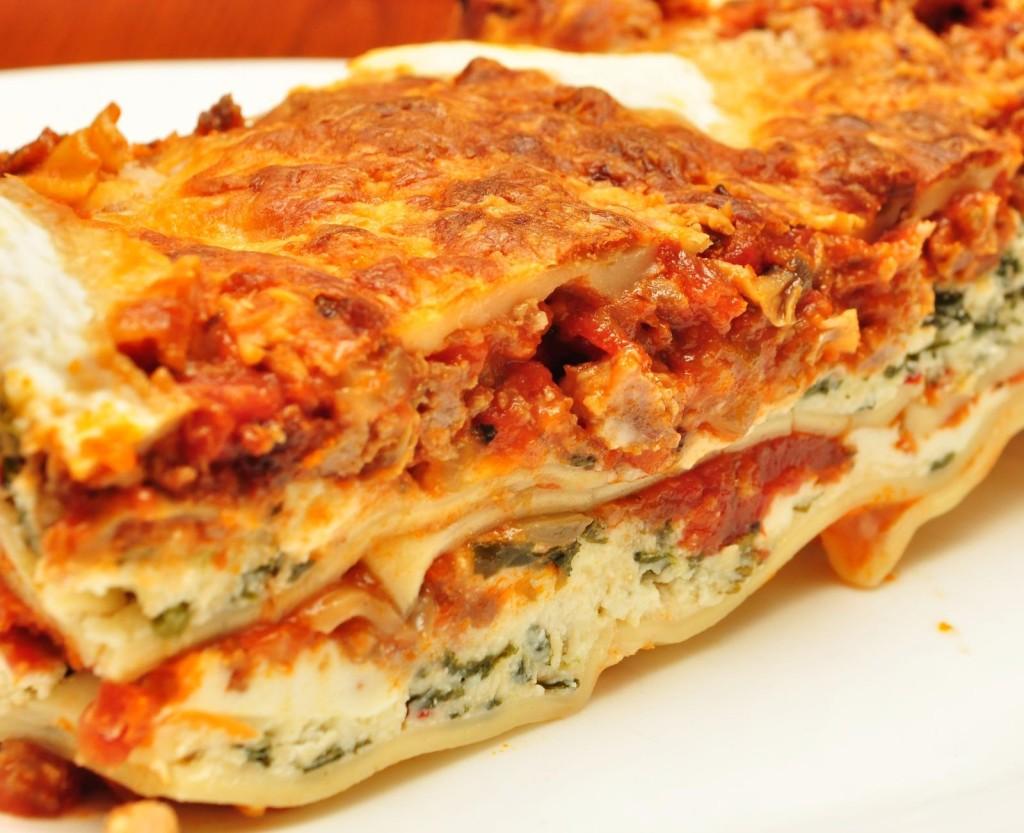lasagna z kurczakiem i szpinakiem