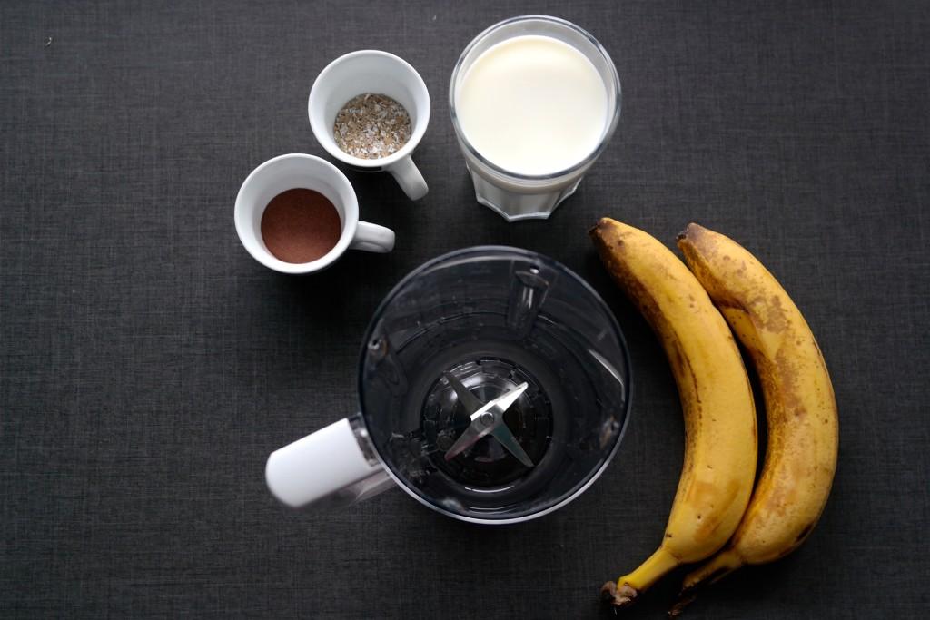 shake bananowy skladniki